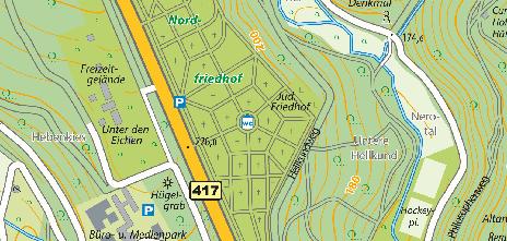 Nordfriedhof, Platter Straße 83