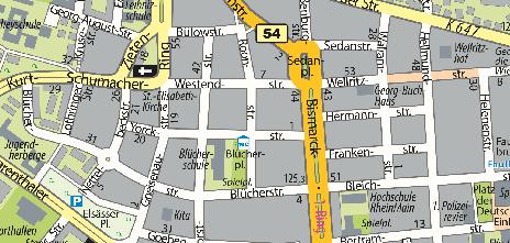 Standort im Stadtplan