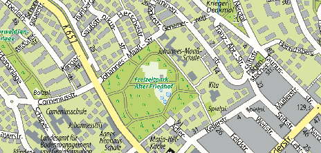 Freizeitpark Alter Friedhof, Platter Straße