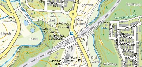 Park+Ride-Parkplätze am Bahnhof Auringen-Medenbach